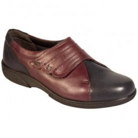 8399cc980b2 Womens Bakewell Navy Plum Wide Fitting Shoes 78312P EE