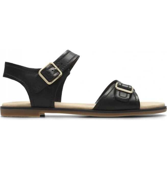 c4ec2338eca Clarks Clarks Womens Bay Primrose Black Leather Sandals 26131934