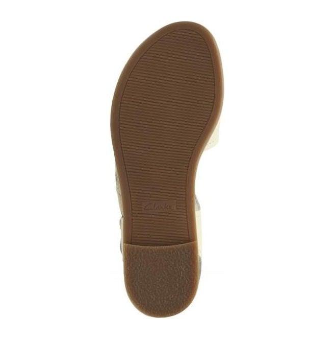 3310bb2b6bf Clarks Womens Bay Primrose White Leather Sandals 26131937