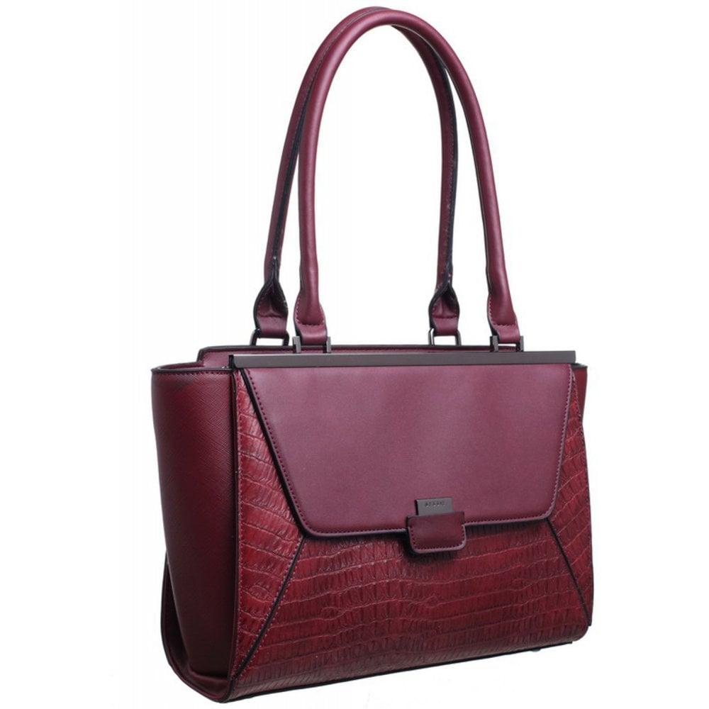 Bessie London Womens BD4066 Red Shoulder Bag