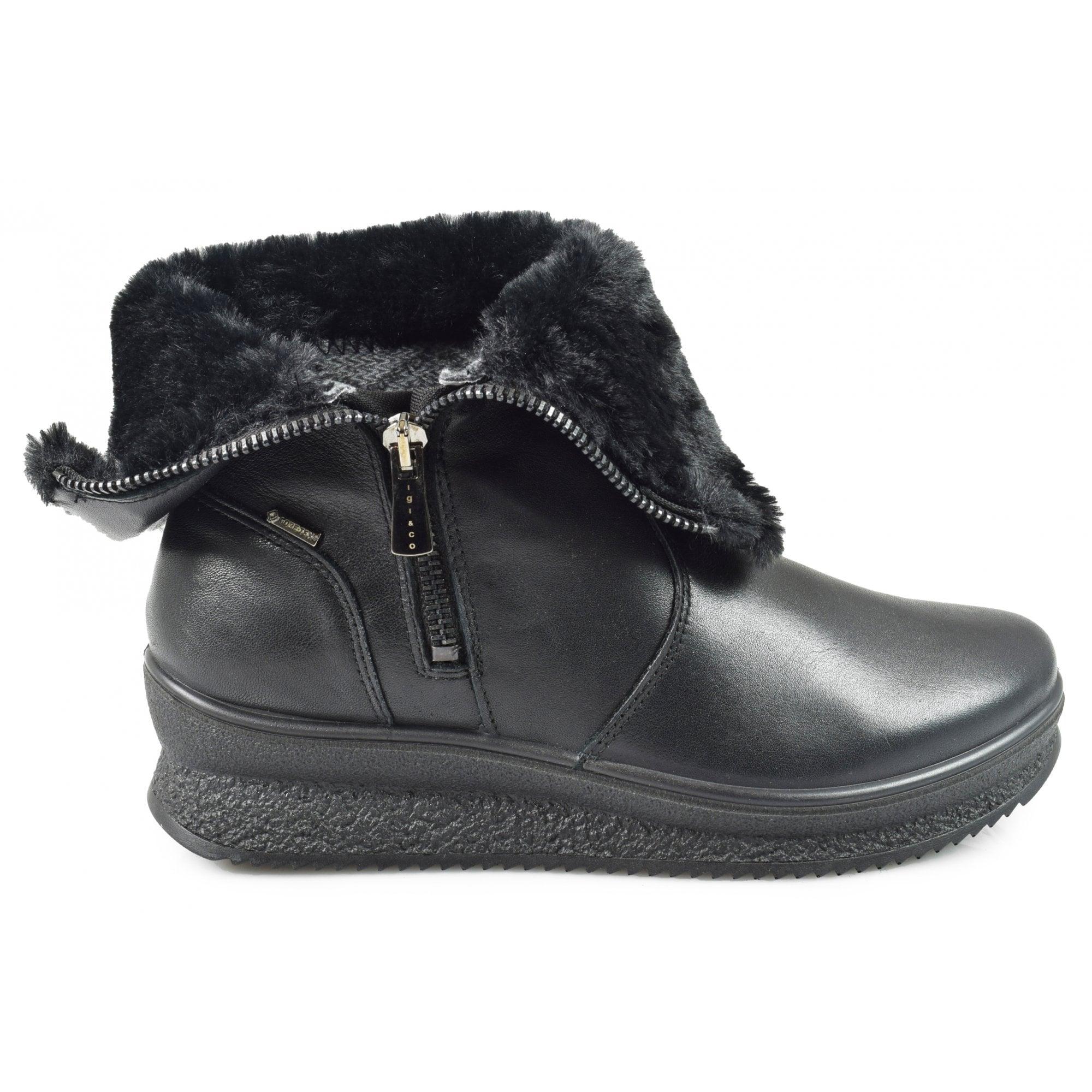 Igi \u0026 Co Black Leather Waterproof Ankle