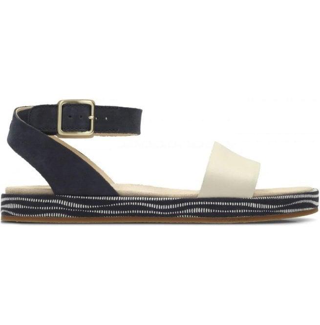 629df17aed0 Clarks Clarks Womens Botanic Ivy Navy Combi Nubuck Leather Sandals 26131961