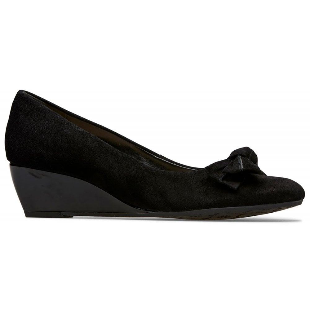 Van Dal Bourne Black Suede Wedge Shoes