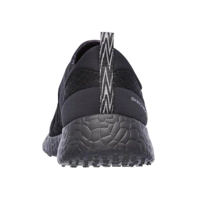8b69c8cddc63 Skechers Burst Very Daring Black Slip On Trainers 12735