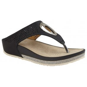 Cipriata L672FS Alcee Womens Silver Diamante Toe Post Sandals