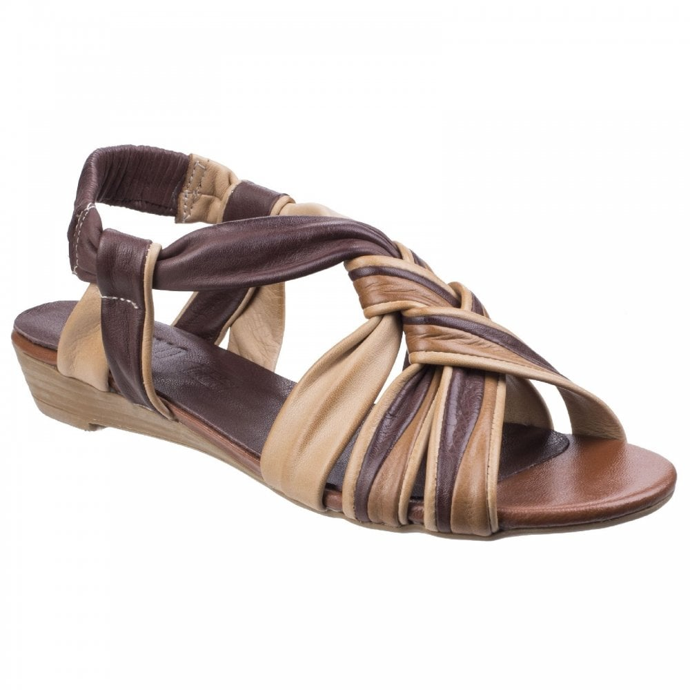 5f573fb5928 Riva Riva Womens Cala Brown Leather Strappy Sandals