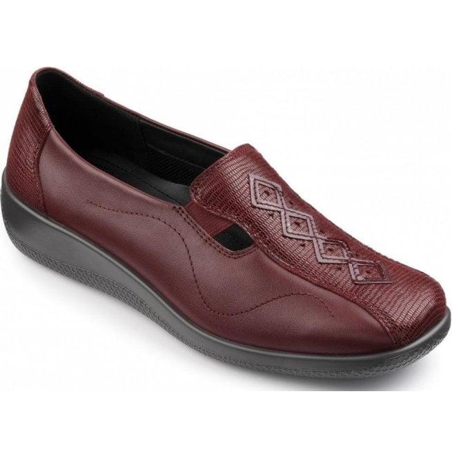 2a5dc8eb Womens Calypso Burgundy/Burgundy Lizard Leather Slip On Shoes