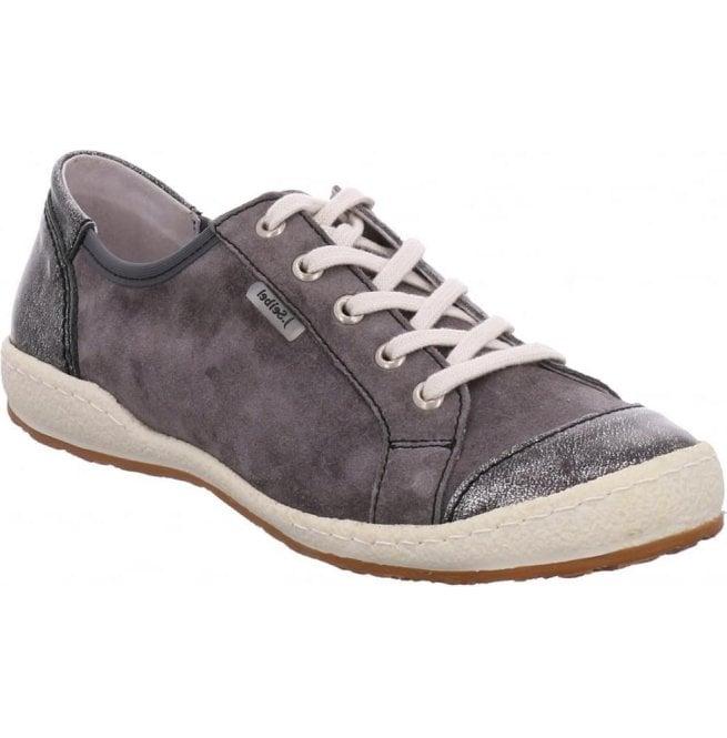 f7225544d Womens Caspian 14 Grey Combi Leather Trainers 75688 949 432