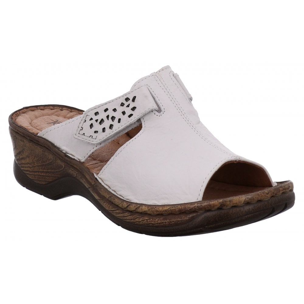 1b6beaad333eb Josef Seibel Josef Seibel Womens Catalonia 32 White Velcro Mules 56496 88  000