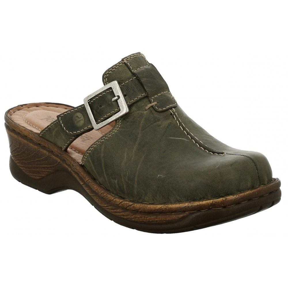premium selection fca94 721c0 Womens Catalonia 40 Olive Buckle Mules 56540 95 630