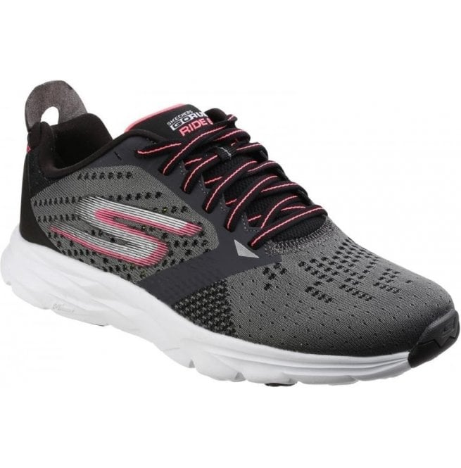51951eff7274 Skechers Womens Charcoal Hot Pink Go Run Ride 6 Trainers SK14117