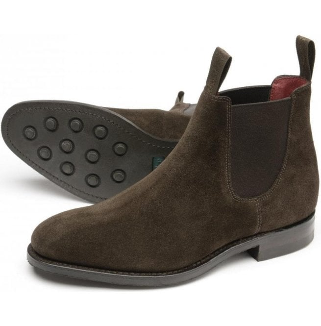 amazing price san francisco outlet store Womens Chatterley Dark Brown Suede Chelsea Boots