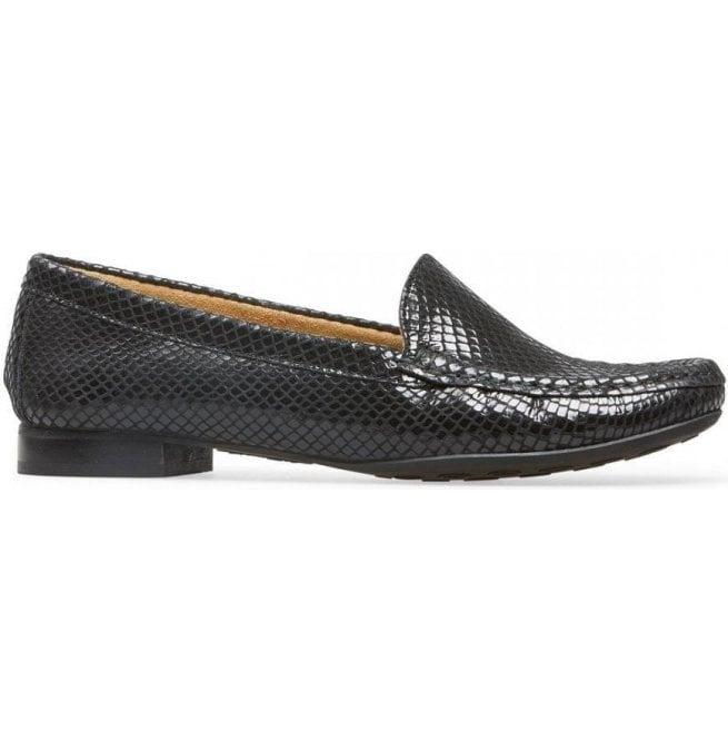 62489c5088 Van Dal Van Dal Womens Cherry Black Snake Print Slip On Loafer Shoes 2509120