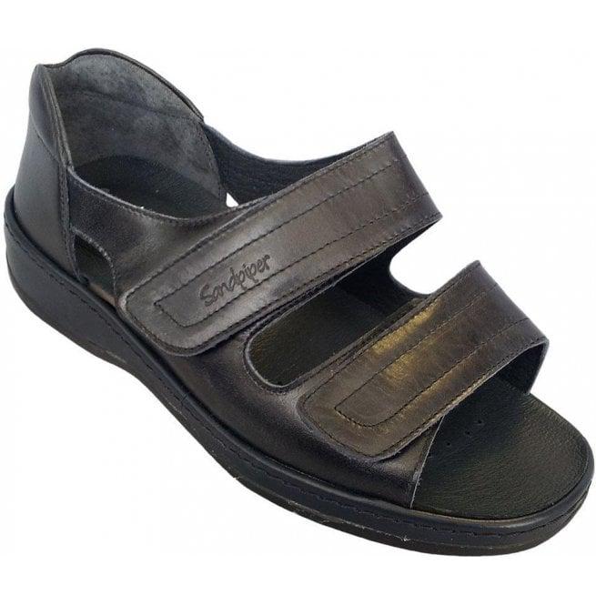 264a857c425 Womens Cheryl Navy Velcro Strap Over Sandals