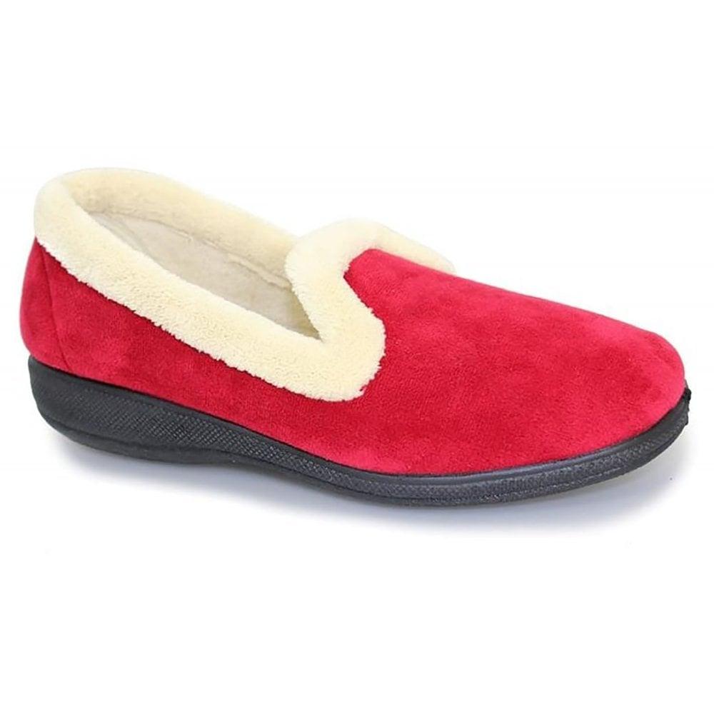 Lunar Chique Red Slip-On Slippers