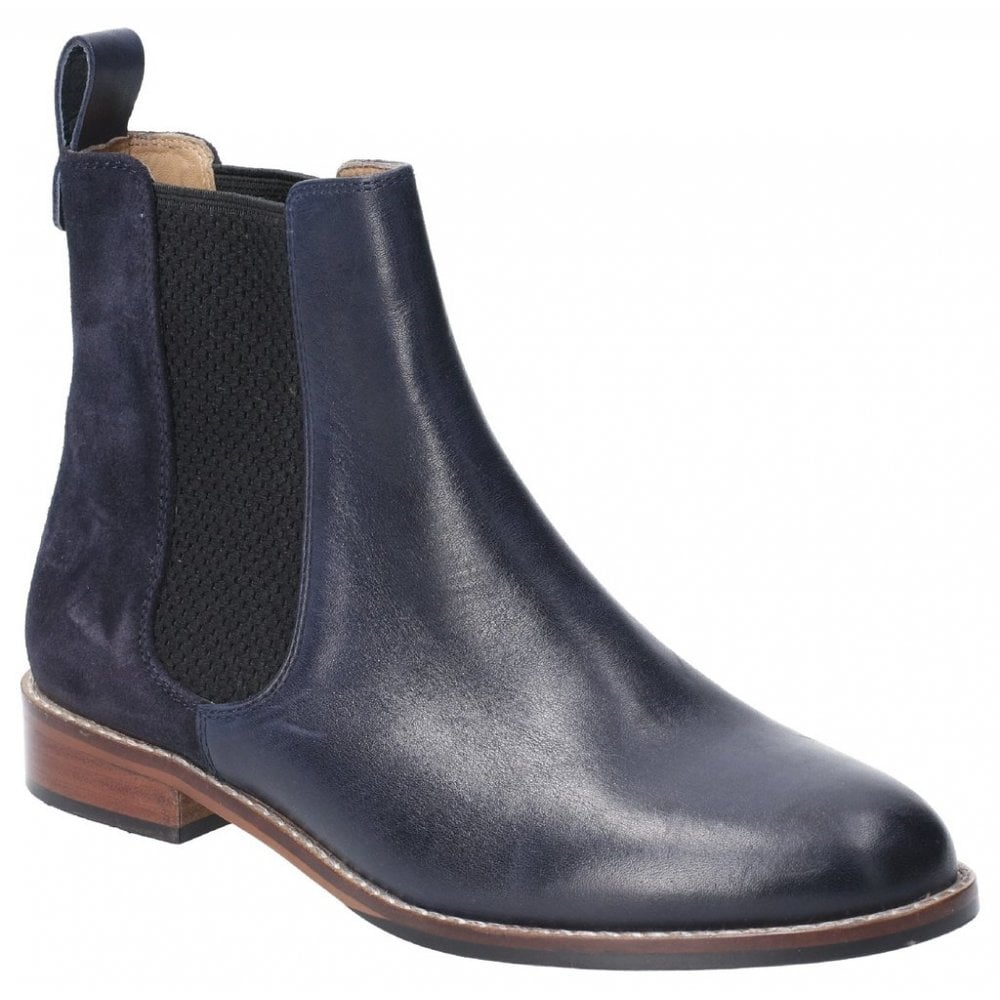 Hush Puppies Chloe Navy Leather Chelsea Boots Official Stockist Marshall Shoes Est 1895