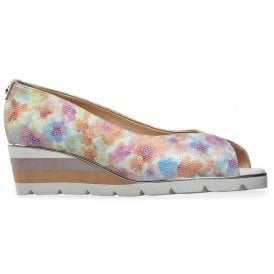 630be618f6 Womens Cobham X Meadow Print Peeptoe Wedge Heeled Pump Shoes 3016040 New In  · Van Dal ...