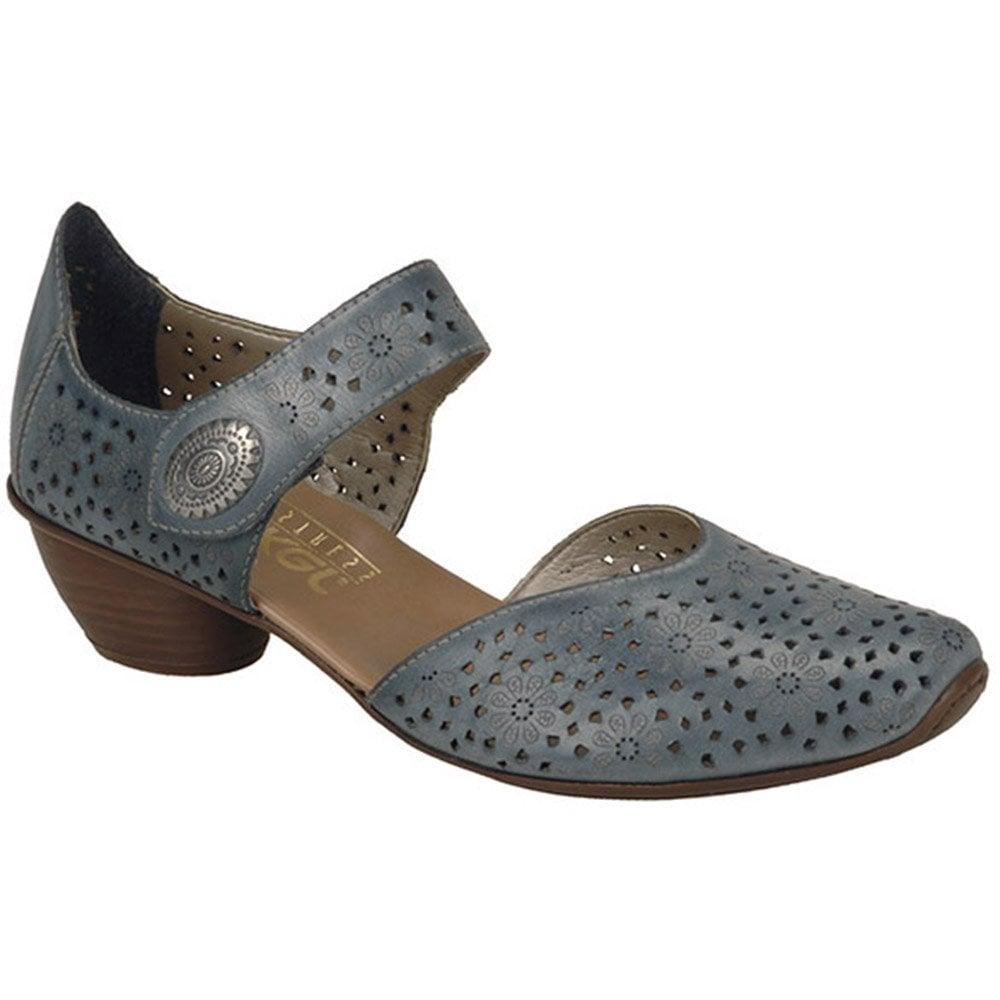 1b74c25baa Rieker Rieker Womens Crease Denim Casual Mary Jane Shoes 43711-12