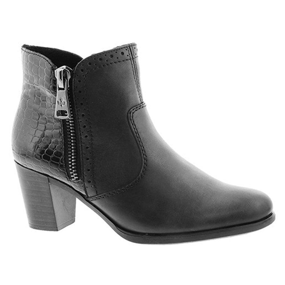 c702dfb91165b Rieker Rieker Womens Cristallin Black Zip-Up Ankle Boots Y8965-00