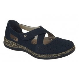 88e2c76fac3 Womens Cross Atlantic Navy Crossover Velcro Shoes 46345-14 New In · Rieker  ...