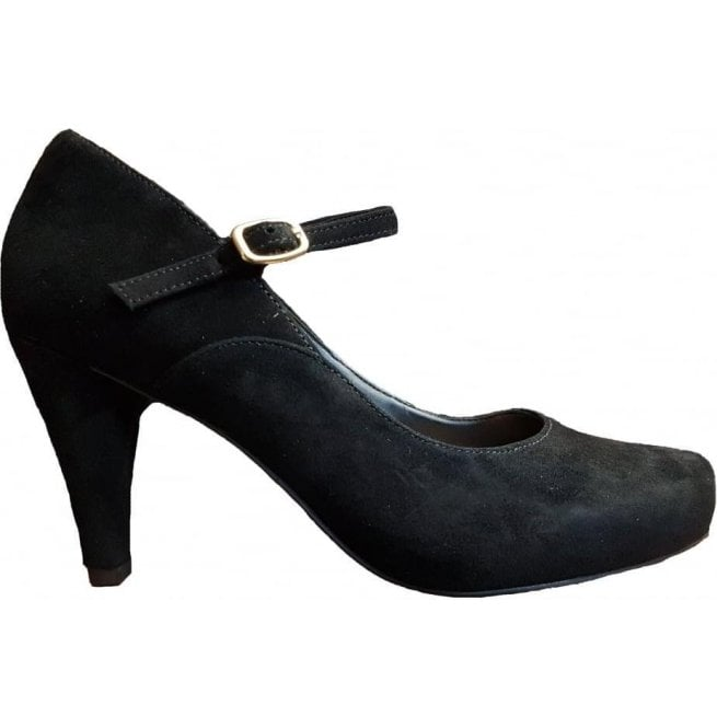 b15ee1505f7 Clarks Clarks Womens Dalia Lily Black Suede Mary Jane Court Shoes