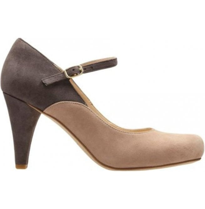 Clarks Dalia Lily Nude Combi Suede Mary