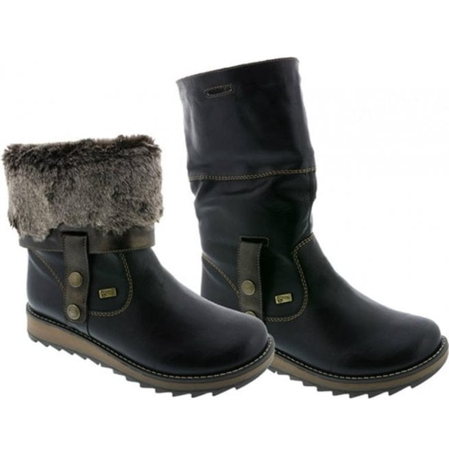 finest selection 5b6da 50bbb Womens Eagle Black Two-Way Waterproof Boot D8874-01