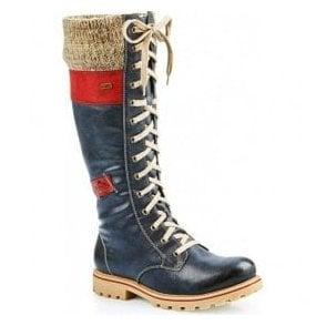 Black Water Boots Womens Resistant Rieker High 79983 Leg 01 8OPn0wk
