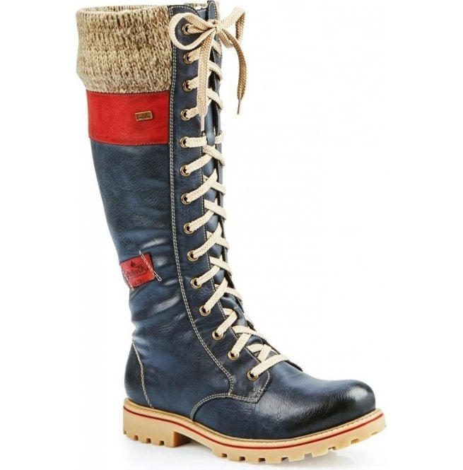 31a327f1c Womens Eagle Ocean 14 Eyelet Lace Up Waterproof Calf Boots Z1442-14