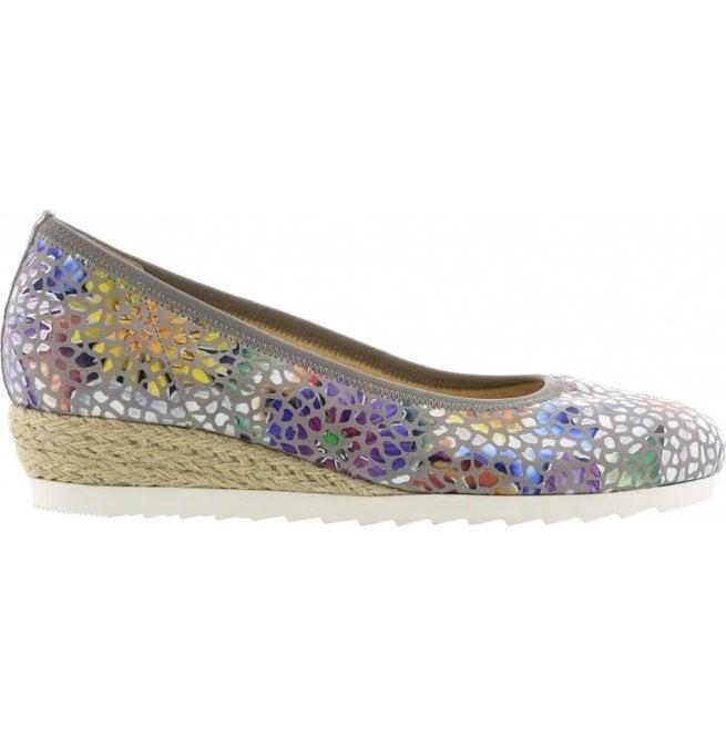 b3be8b1c7 Gabor Gabor Womens Epworth Stone Floral Slip On Wedge Shoes 641.24