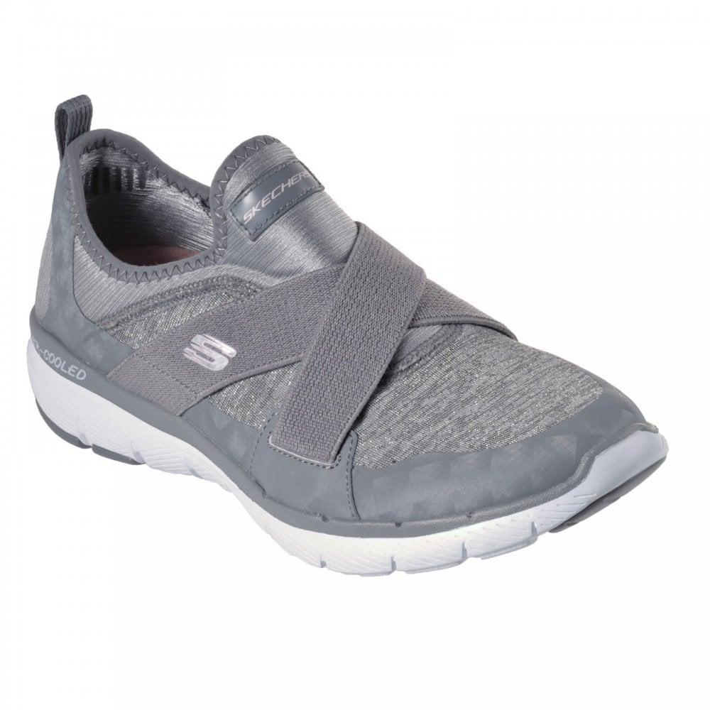 gray slip on skechers low price 65abc 78150