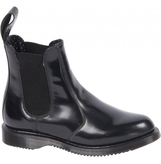 1911b8a3581 Womens Flora Smooth Black Chelsea Boots 14649001
