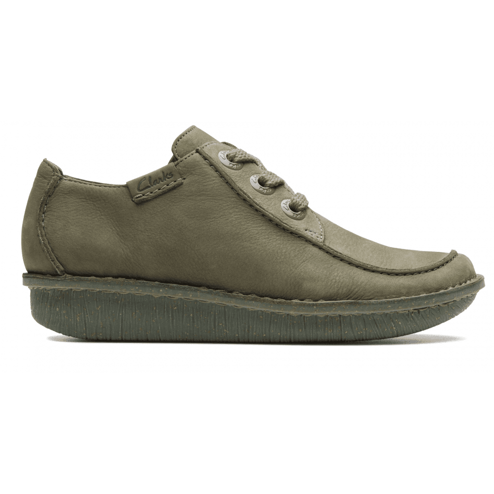 Clarks Womens Funny Dream Sage Nubuck Casual Shoes 26140232