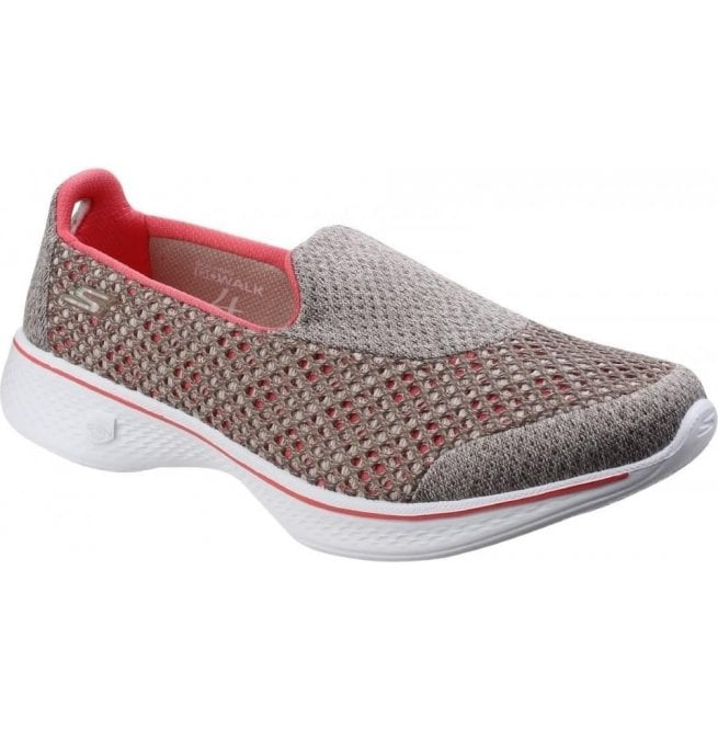 Skechers Go Walk 4 - Kindle Taupe/Coral