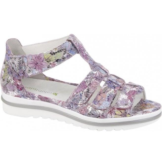 2fbb461f6fd Waldlaufer Waldlaufer Womens Hakura Rose Floral Velcro Gladiator Sandals  351802 154 202
