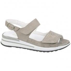 932c2c82 Womens Halisha Taupe Nubuck Sandals 315001 201 230