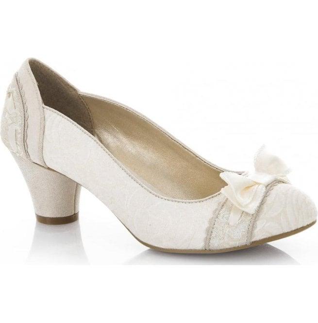 57c0183e9afa1 Ruby Shoo Ruby Shoo Womens Hayley Cream Court Shoes 09160