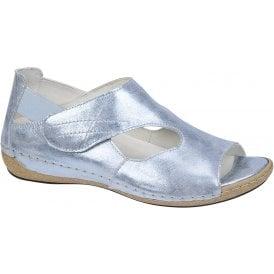 a7f7d51a6145 Womens Heliett Foil Sky Blue Strap Over Sandals 342004 127 267