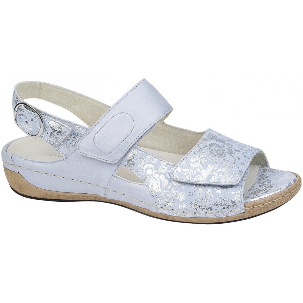 e7eed6cd Waldlaufer Waldlaufer Womens Heliett Lissi Memphis Mare Light Blue Velcro  Sandals 342022 200 140