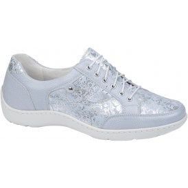 364d25ef Womens Henni Pigalle Lissi Bufa Mare Light Blue Lace Up Shoes 496023 330 140