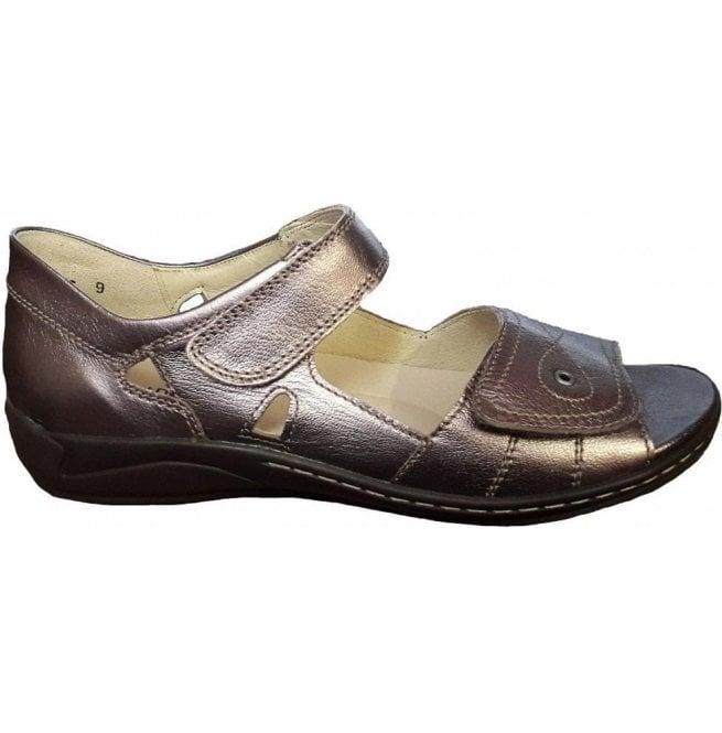 bea3e32f639a Waldlaufer Waldlaufer Womens Hilena Marrakech Sand Velcro Sandals 582028  125 090