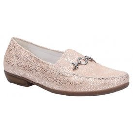 9dc3080b211e2 Womens Hina Tago Apricot Slip On Moccassin Loafer Shoes 437505 117 089.  Waldlaufer ...