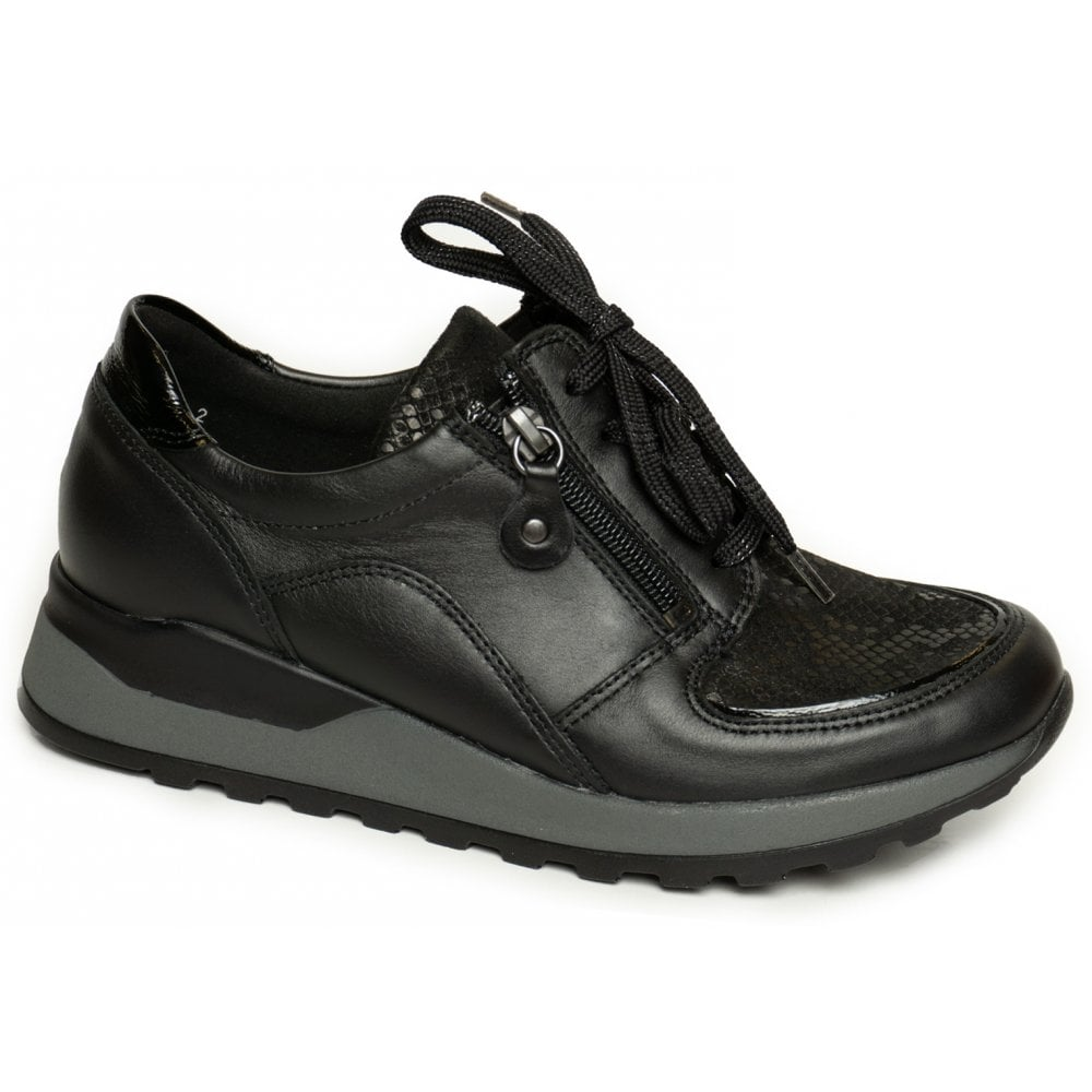 new york fashion presenting Womens Hiroko-Soft Black Lace-Up Shoes H64007 318 001