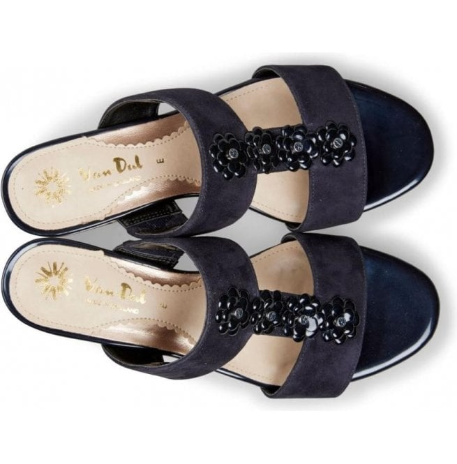 63d752199c Van Dal Womens Ione Midnight Suede Sling Back Sandals 2837430