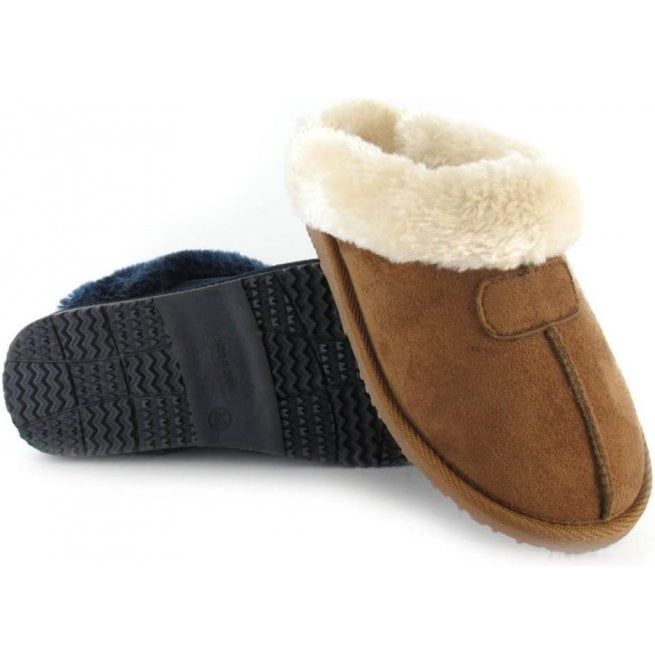7871db55c7f4c Ella Jill Chestnut Womens Fur Lined Memory Foam Slippers