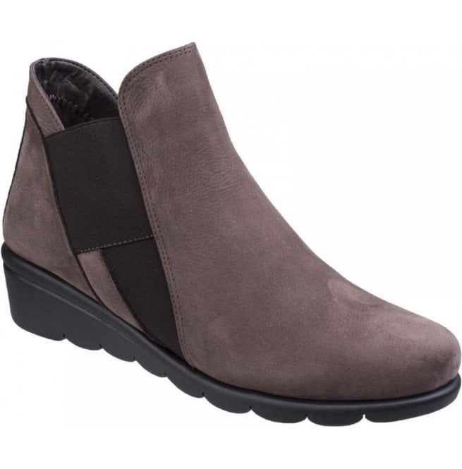 The Flexx Womens Jump Brown Slip On Ankle Boots 2e64861dffc5