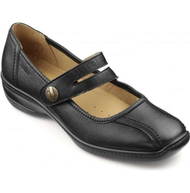 Hotter Hotter Womens Karen Black Leather Mary Jane Shoes d38211451a