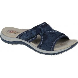 f85826b062d Womens Lakewood Navy Blue Velcro Mules 30226 New In. Earth Spirit ...
