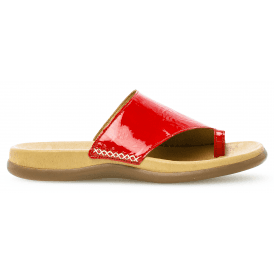 4e479461c Womens Lanzarote Red Patent Leather Toe Loop Mules 700.95