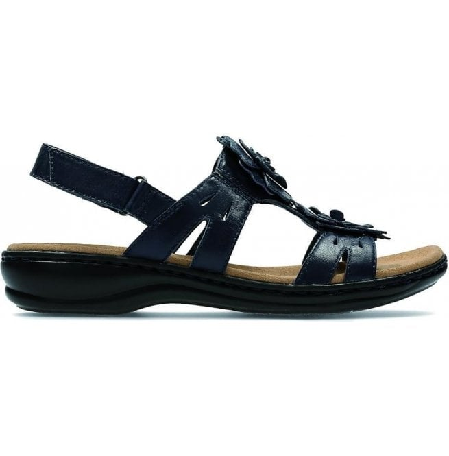 d032da8174ac Clarks Womens Leisa Claytin Navy Leather T-Bar Sandals